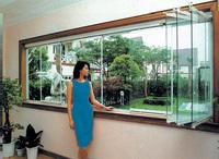深圳无框阳台折叠窗,折叠玻璃窗,无框无框推拉窗,无框阳台折叠