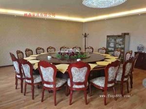 大型实木电动餐桌 酒店餐桌椅 电动餐桌转盘 电动火锅餐桌供应