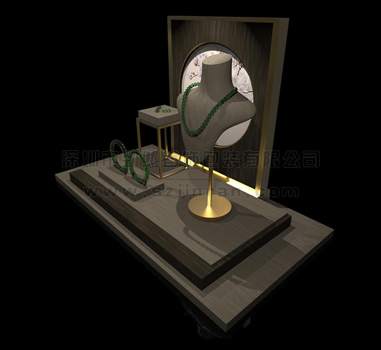 珠宝艺术橱窗,玉器珠宝橱窗道具,翡翠玉石珠宝展柜2.jpg