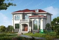 13*14米二层精品复式小别墅设计图,造价30左右,采光通风