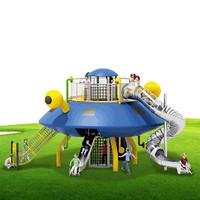 温州悠奇儿卡通造型儿童乐园大型游乐设施塑料组合滑梯