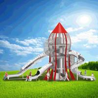 温州悠奇儿户外非标不锈钢滑梯定制公园景区大型组合滑梯