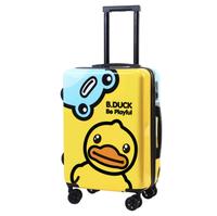 ins风网红定制logo20寸行李箱韩版卡通登机定制儿童旅行箱图案