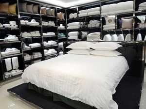 厂家直销 宾馆酒店床上用品布草 涤棉三公分缎条四件套 可定制