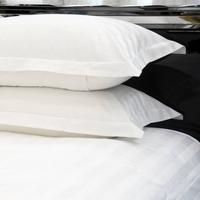 枕套 厂家直销 宾馆酒店客房床上用品三公分缎条涤棉枕套 可定