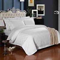 三公分缎条三件套 酒店宾馆床上用品纯棉三件套 厂家直销酒店布
