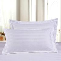 厂家直销 酒店宾馆床上用品三公分缎条纯棉枕套 多尺寸可定制