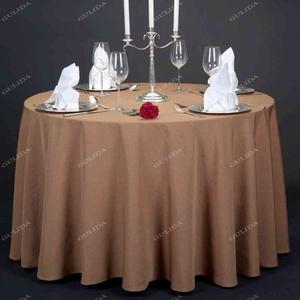 【厂家直销酒店布草】订做酒店酒楼桌布 餐厅粗纹系列花纹台布