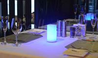 酒店灯具 LED鱼鳞纹台灯  七彩渐变5种 明暗模式