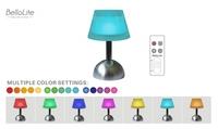 酒店灯具 LED亚克力蘑菇台灯 七彩渐变远程遥控