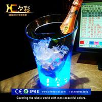 厂家批发七彩LED亚克力冰桶透明冰桶酒吧KTV发光冰桶