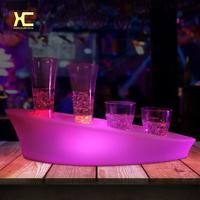 LED发光酒杯托充电遥控七彩插孔酒杯架酒吧ktv创意发光酒具