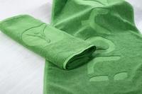 梦妃丝浴巾绿色提花毛巾英文